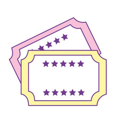 Stickers to come in theater vector