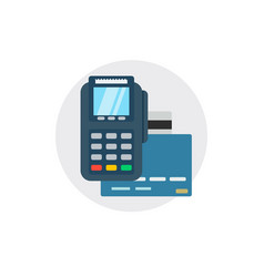Terminal bank payment card pay credit shopping vector