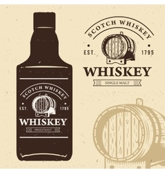 Typography monochrome vintage label with bottle vector