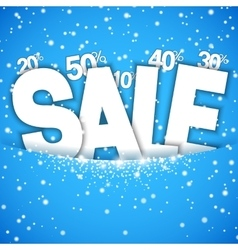 Winter Sale Concept vector image