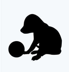 Puppy with ball vector