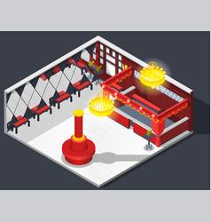 Theatre hatcheck room composition vector