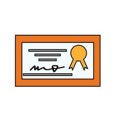 Diploma education certificatiom vector