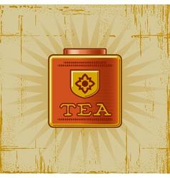 Retro Tea Can vector image
