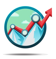 Mountain stock market icon symbol vector