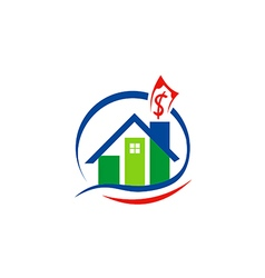 House sold property realty logo vector