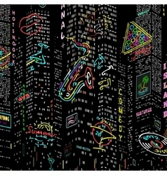 Background City Nightlife vector image