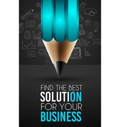 Best business solution infographic layout template vector