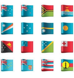 Flags - oceania vector