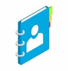 Spiral notebook isometric 3d icon vector