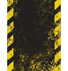 grungy hazard vector image