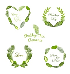 Tropical leaves banners and tags vector