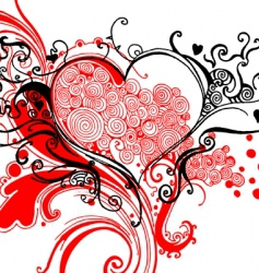Sketchy heart graphic vector