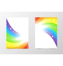 Rainbow flyer template design vector image