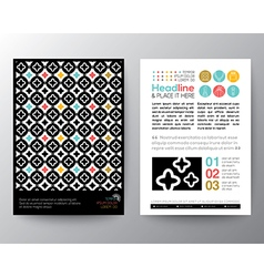 Abstract Pattern Poster Brochure Flyer Layout vector image vector image