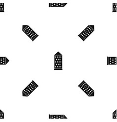 Ancient building pattern seamless black vector