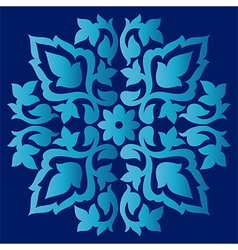 Antique ottoman turkish pattern design sixty eight vector
