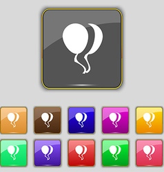 Balloon Icon sign Set with eleven colored buttons vector image