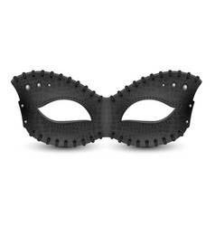 Black leather mask with rivets vector