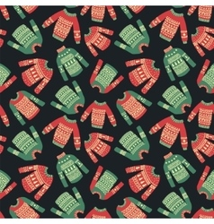 Christmas sweater pattern vector