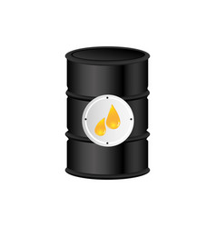 color silhouette with oil barrel vector image vector image