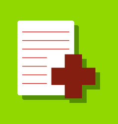 Flat icon design collection medical form with a vector