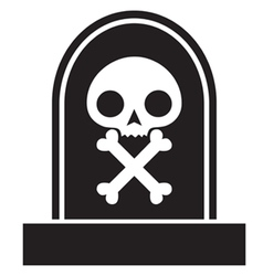 Graveyard skull vector
