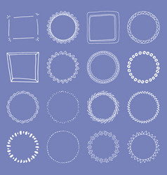 handdrawn frame collection vector image vector image