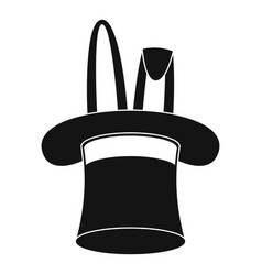 hat with rabbit icon simple style vector image