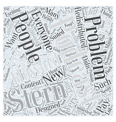Howard stern podcast problem word cloud concept vector