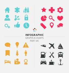 infographic icon collection vector image