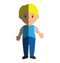 little boy avatar icon vector image