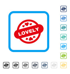 lovely stamp seal framed icon vector image vector image