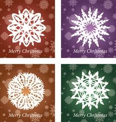Openwork handmade snowflake vector