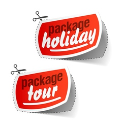 Package holiday vector