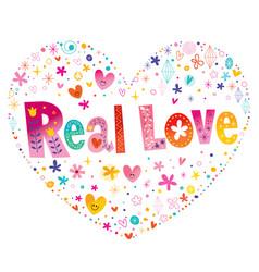 Real love vector