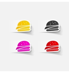 Realistic design element sandwich vector