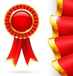 Red award ribbon vector