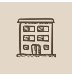 Residential building sketch icon vector image vector image