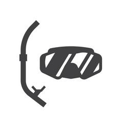 scuba diving mask vector image