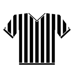 Silhouette jersey referee american football vector