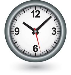 Silver clock icon vector image
