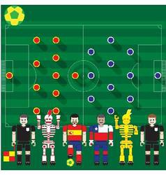 Spain vs chile vector