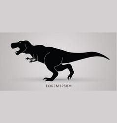 t rex dinosaur graphic vector image