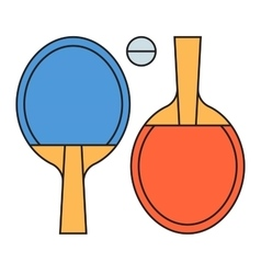 Table tennis ping pong vector image vector image