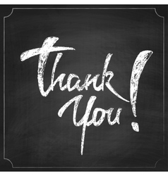 Thank You Chalk Hand Drawing Greeting Card vector image