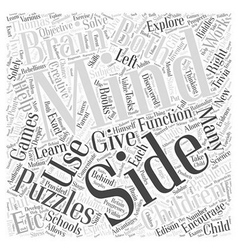 The science behind mind puzzles word cloud concept vector