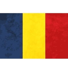 True proportions romania flag with texture vector
