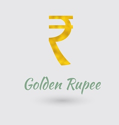 Golden rupee symbol vector