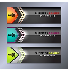 Banner business design vector